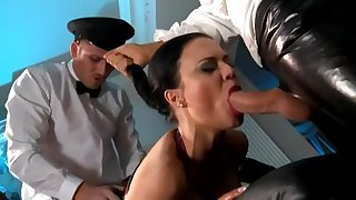 Unmitigatedly Busty British Mistress In A Fmm Triune