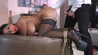Hot ass get hitched Raven Permanent gets a buttplug by means of vaginal sex