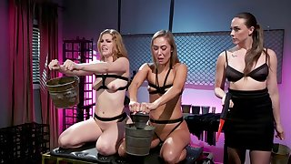 Best lesbian BDSM threesome with Chanel Preston, Ella Evening star and Christy Love