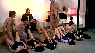 Fruit sex orgy action with horny making of girls