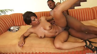 Jet-black become man specialization powerful cock close to her tight holes
