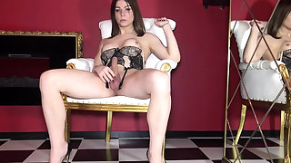 Sweet big titted tgirl tranny in unescorted cumming